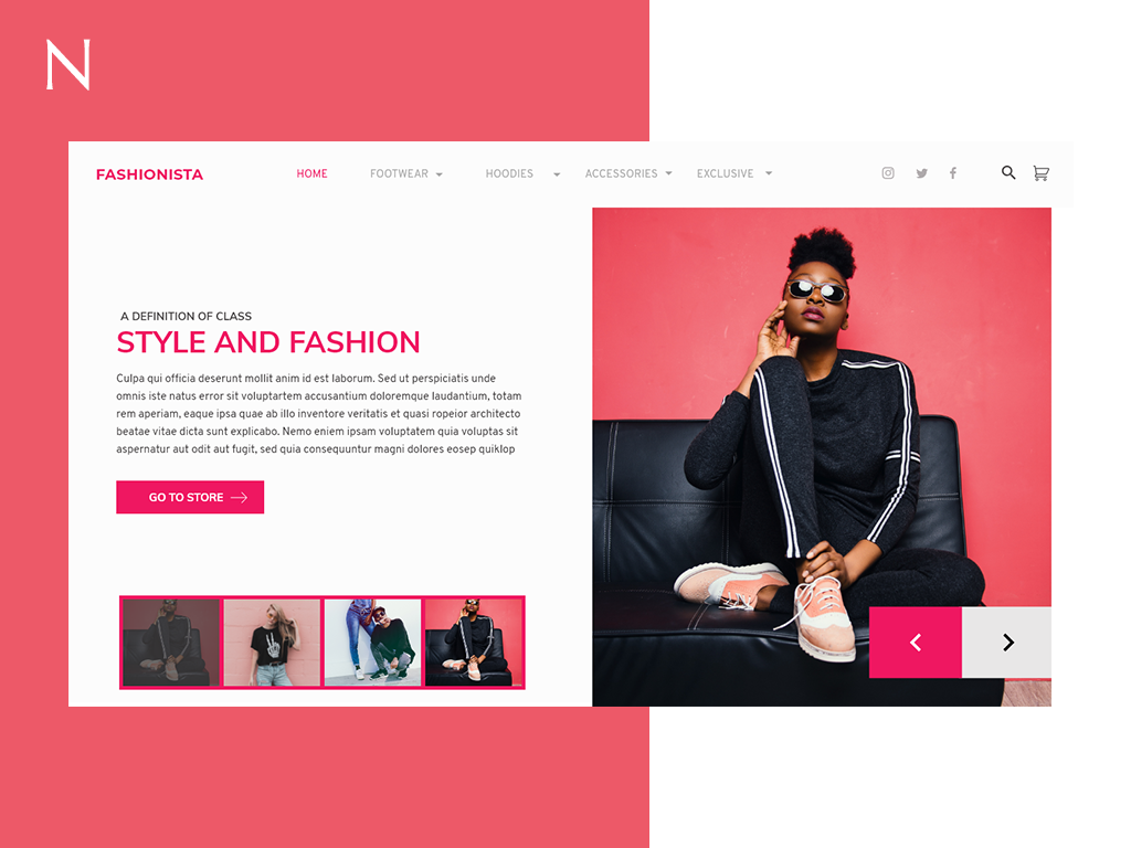 Fashion Store Landing Page store fashion branding streaming uid illustration landing page ui social landing page web uxui ui ux design dailui