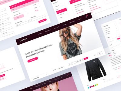 Luxeno - Ecommerce Website UI