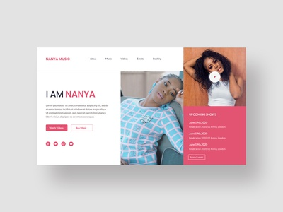 Music Artiste Landing Page Concept