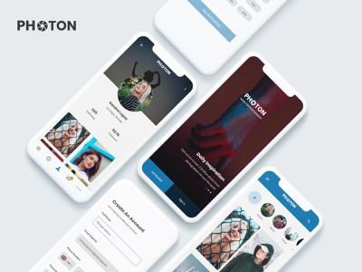 Photon - A Photography Community user interface design user experience user interface community photograhy ios android app android application animation app ui web uxui ux design dailui