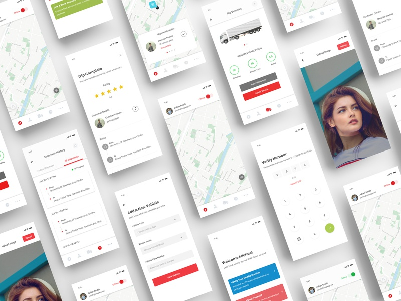 SNEP Driver App - Delivery Company Design