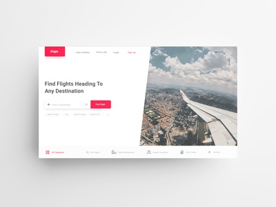 iFlight - A Flight Search & Booking Landing Page