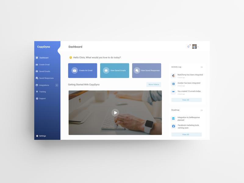 CopyDyno Dashboard - An Email Marketing Platform