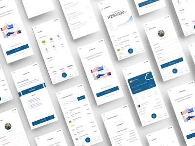 Monegrow - A Fintech Platform Concept card animation mobile design mobile dashboard app dailyui dashboard ui card app app bank fin-tech app fin tech app finance fintech web uxui ux ui design dailui