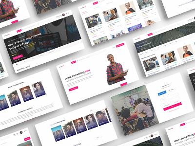 CourseHub Concept - An Online Learning Platform online course schools education website skills school e learning education courses coursera udemy landing page ui uid landing page web uxui ux ui design dailui
