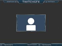 Dark Blue Cobalt Overlay for Twitch