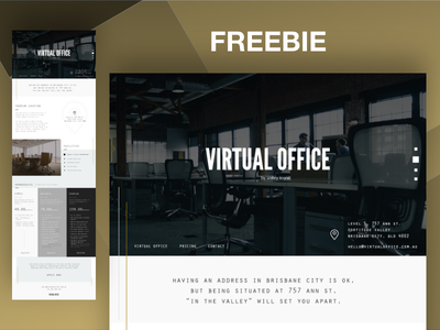 Coworking Space Website Template coworking coworking space design template website ux ui freebie