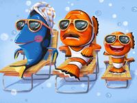 Pixart poster mash up JUNE (Finding Nemo & Raising Arizona)