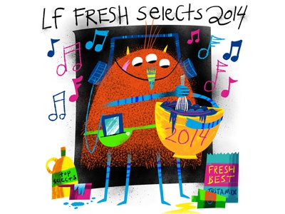 LF Fresh Selects 2014 (monstrous music mix) variant cover lf fresh selects