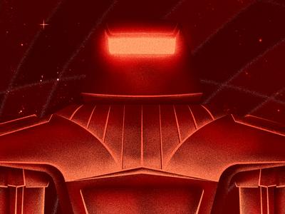 The Black Hole robot fan art illustration digital poster fiction science sci-fi space hole black disney