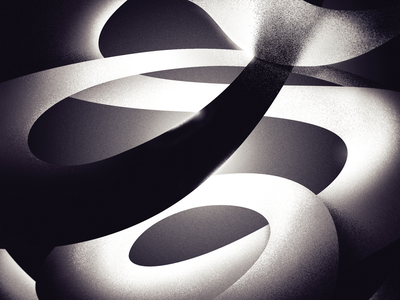 Secret 7 submission - Help by London Grammar shadow light monotone swirls band cover music secret 7 abstract illustration