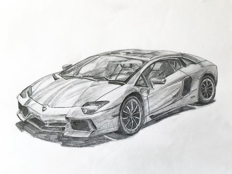 Lamborghini Aventador sketch | Desenhos de carros, Carros ...  |Lamborgini Cars Drawings Tattoo