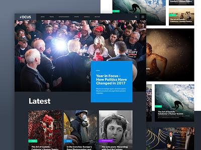 News Site - Dark UI Exploration product ux web photography ui editorial news dark