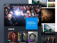 News Site - Dark UI Exploration
