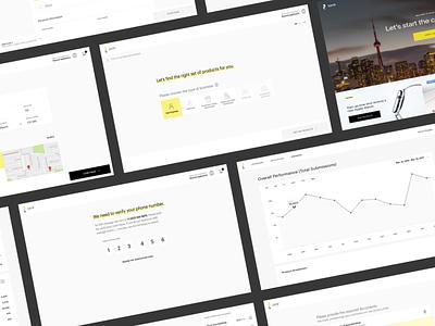 Financial Platform product platform ux data fin-tech dashboard forms finance