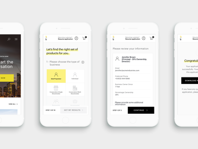 Financial Platform - Mobile forms fin-tech data web mobile product ux