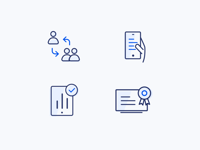 Simple Iconset web vector illustration minimal line iconset corporate ui icon