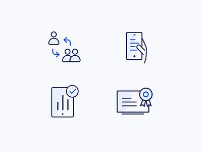Simple Iconset web vector illustration minimal line iconset corporate ui icon