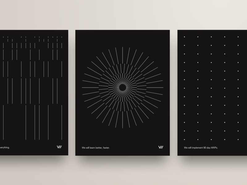 V// Poster Series minimalism dark motivation brand promo minimalist posters