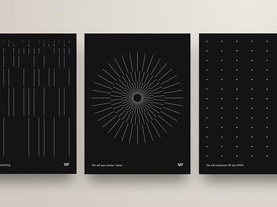 V// Poster Series minimalism dark motivation brand promo minimalist posters