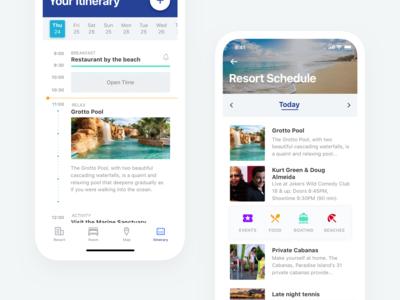 Resort Schedule - Mobile App