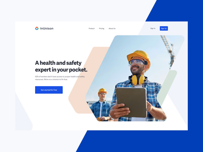 InUnison - Heath & Safety Homepage homepage ux angles marketing healthcare corporate website