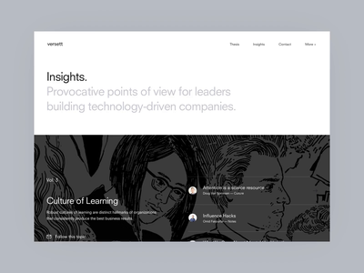 Versett.com Blog Concept blog design blog post agency animation interaction ux web scroll blog