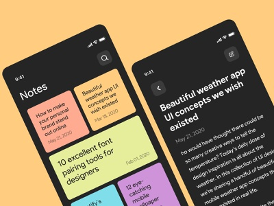 A simple and lightweight note app product design ux ui sticky notes notes mobile app sketch