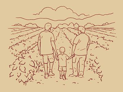 Illustration for a wine bottle