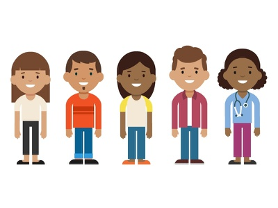 Little characters for a medical company character design