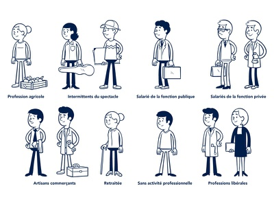 Personnages / Professions characters
