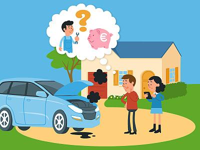 Panne de voiture voiture panne mécanicien
