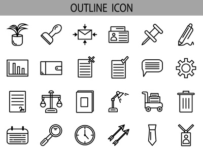 Business icon set design ui icon set bussines icon illustration