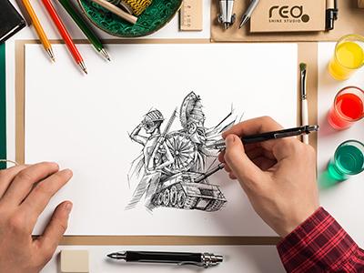 Independece day Sketch