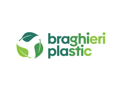 Braghieri Plastic logo design minimal icon type typography lettering flat design vector logo branding