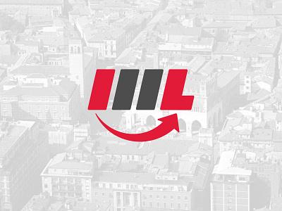 Gruppo ML monogram type flat design vector typography logo lettering branding