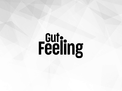 Gut Feeling type flat design vector typography logo lettering branding
