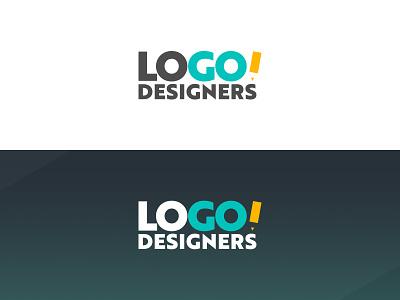 Logo Designers monogram type flat design vector typography logo lettering branding