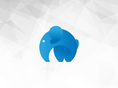 Elephant minimal icon illustration design vector logo branding