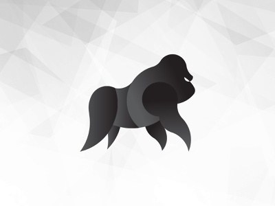 Gorilla icon minimal illustration flat design vector logo branding