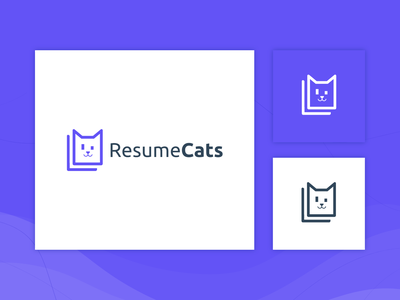 Logo Design for ResumeCats webdesign creative typography illustration creative agency card branding brand logos minimal animal cat resume cats logo