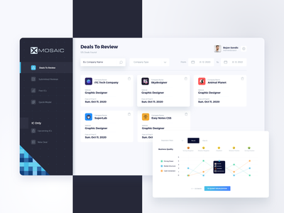 XMOSAIC Dashboard Design clean web design web illustration design graphic ux ui projects backend dashboard