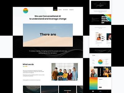 Hello Ara Website Design landingpage creative ux ui website webdesign web bot chat gradient chatbot ai