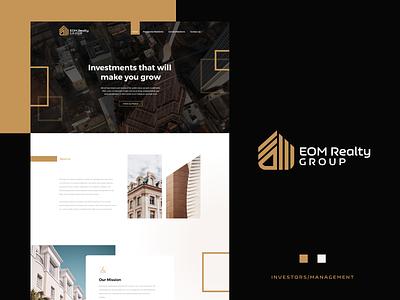 EOM Realty GROUP Website Design webdesigner branddesign landingpage property website websitedesign webdesign ux ui realty realestateagency city invest realestate