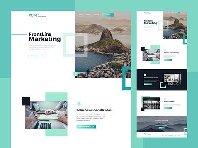 Marketing Agency Website Design creative landing page agency clean website design website webdesign ux ui turquoise seo agency seo marketing website marketing