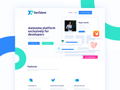 DevTalent Website Design illustration design website ux ui web webdesigner webdesign platform development developer developers