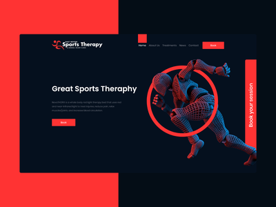 Sports Therapy & General Injury Clinic Website Design design creative web webdesign landingpage website design website health doctors doctor therapyst therapy sport clinic