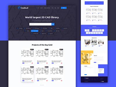 Cadbull Website Design creative 2dcad cad designers webdesign website design community forum modern ui ux landingpage minimal