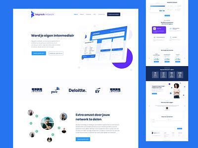 Bayrock Network Website Design webdesigner website clean creative design art landingpage homepage webdesign platform freelancer freelance