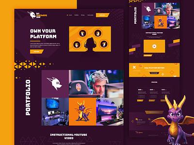 My Streaming Site Website Design ux ui websitedesign website webdesign web gamers gamingwebsite player gaming game stream streaming platform